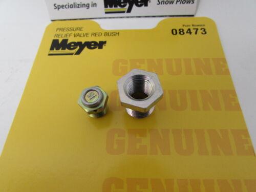 GENUINE MEYER E46 E47 E57 E60 SNOW PLOW PRESSURE RELIEF VALVE W// BUSHING # 08473
