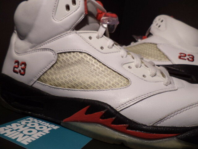 the latest 30340 9aa8d ... 2008 Nike Air Jordan V V V 5 Retro CDP COUNTDOWN WHITE BLACK FIRE RED  WOLF GREY 13 ...