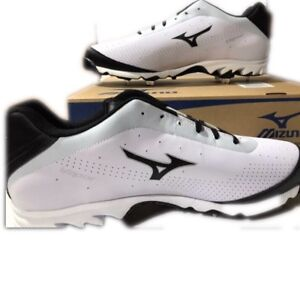huge discount 13ba4 6d1a1 Image is loading Mizuno-Baseball-16-Metal-Cleat-White-9-Spike-