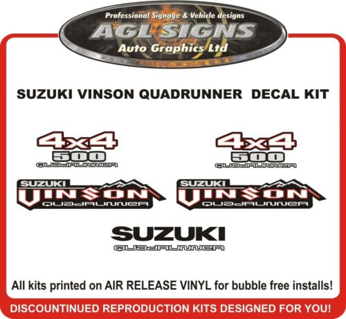 SUZUKI VINSON Quadrunner 500 4X4 Reproduction Decal Set