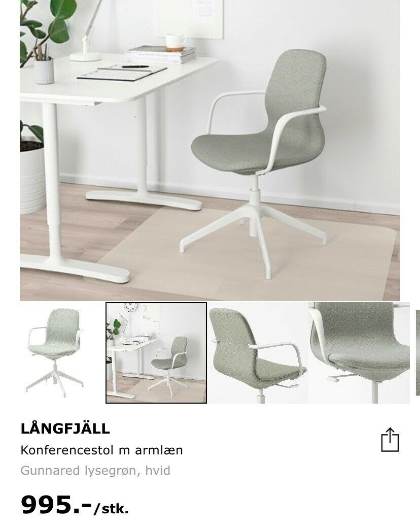 Picture of: Kontorstol Ikea Langfjall Dba Dk Kob Og Salg Af Nyt Og Brugt