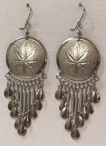 1 Pair of Peruvian Ethnic Tribal Earrings Handcrafted in Peru Metal Jewelry
