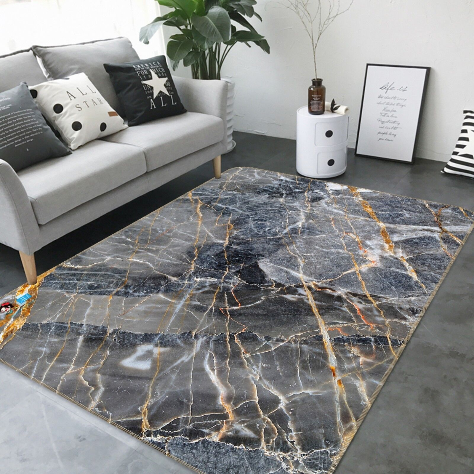 3d textura mármol desgarro 5 antideslizante alfombra maletero calidad elegante alfombra