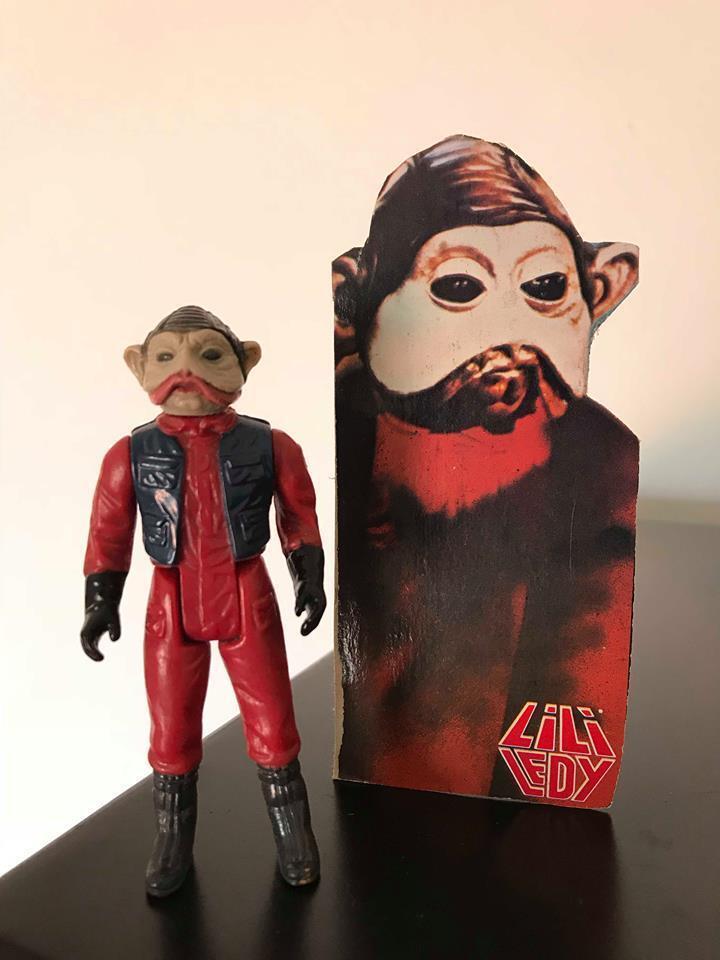 Star Wars Vintage Lili Ledy Nien Numb Card Mexico 80s Vader Yoda