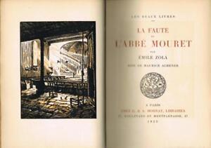 ZOLA-La-faute-de-l-039-Abbe-Mouret-MORNAY-Achener-reliure-AUFSCHNEIDER-rives-BE
