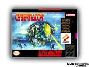 Cybernator-SNES-Super-Nintendo-Game-Case-Box-Cover-Brand-New-Pro-Quality