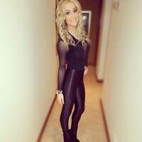 Disco Spandex Pants Black American Apparel Jeans  Size L