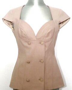 CLASS-ROBERTO-CAVALLI-Damen-Veste-Jacket-Jacke-Korsage-beige-NEU-449-Etikett
