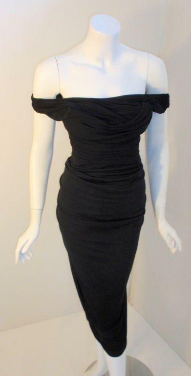 CEIL CHAPMAN 1940s Vintage Black Cocktail Dress - image 6
