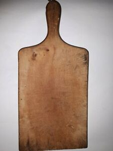 OLD-ANTIQUE-PRIMITIVE-WOODEN-WOOD-BREAD-CUTTING-BOARD-PLATE-5
