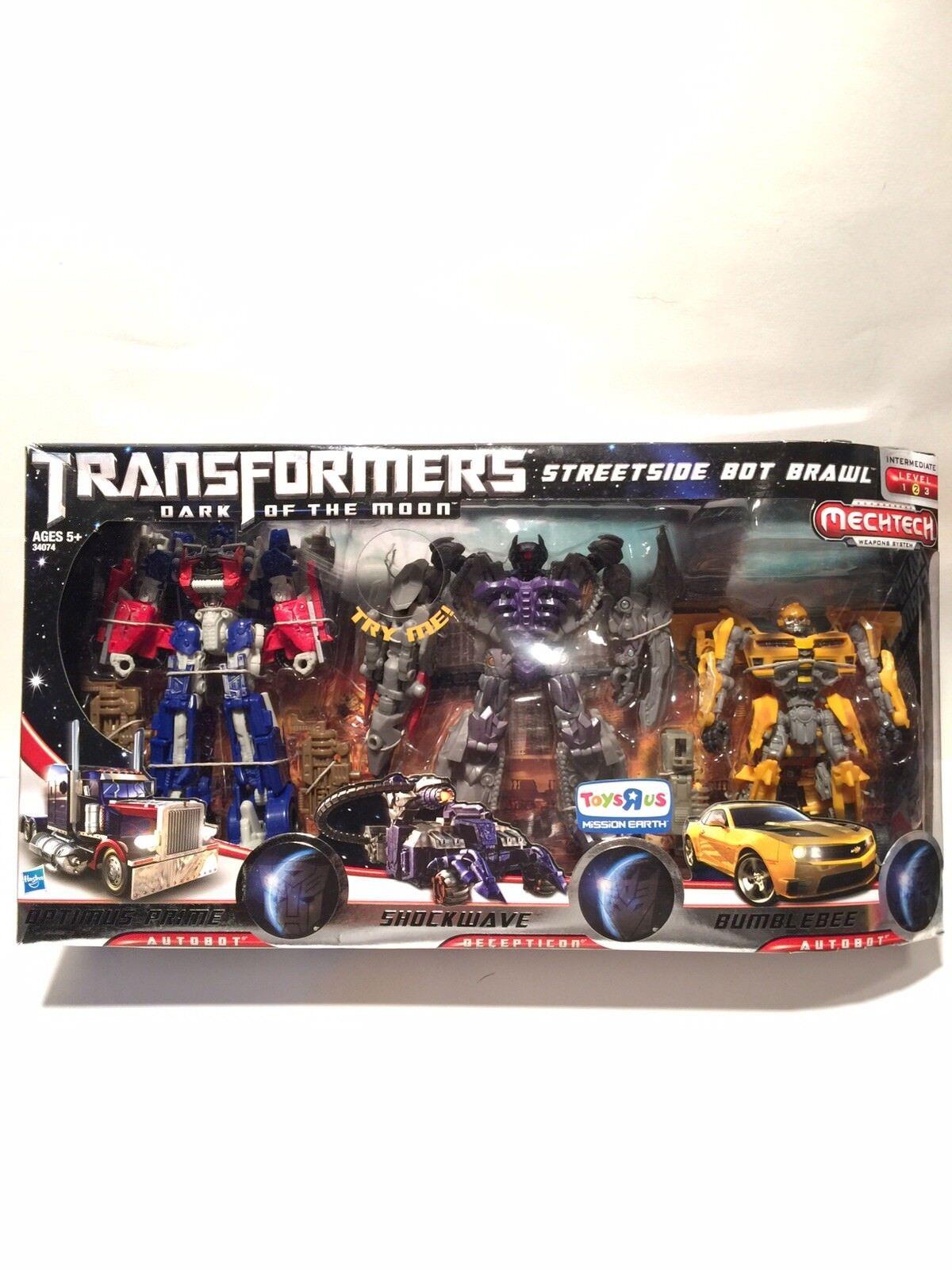 las mejores marcas venden barato Transformers Luna Luna Luna Oscura recorrer Bot Brawl Optimus Prime Shockwave Bumblebee  compras en linea