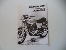 advertising Pubblicità 1979 MOTO LAVERDA FORMULA 350