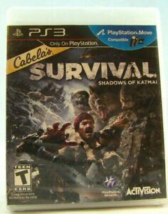 Cabela-039-s-Survival-Shadows-of-Katmai-Sony-PlayStation-3-2011-New-sealed