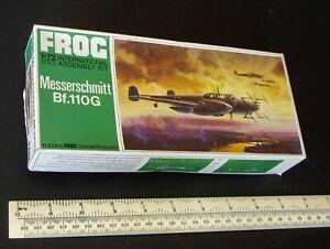 Messerschmitt-Bf-110G-NIGHT-FIGHTER-1-72-scale-vintage-1960-s-Frog-Kit-BOITE-VERTE