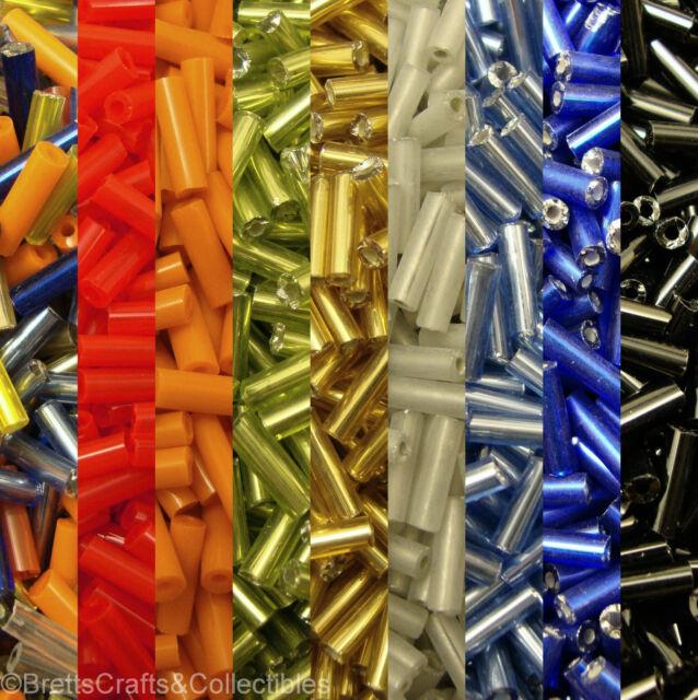 #3 - 7mm Straight Bugle Seed Beeds (40 grams / 1.40oz per Bag)