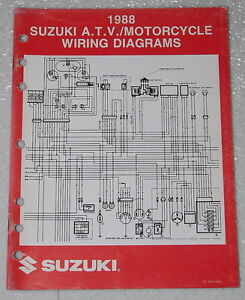 Enjoyable 1988 Suzuki Motorcycle And Atv Electrical Wiring Diagrams Manual 88 Wiring Digital Resources Ommitdefiancerspsorg