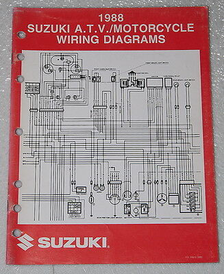 "1988 suzuki motorcycle and atv electrical wiring diagrams manual 88 ""j""  models  ebay"