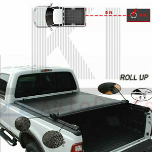 5ft Vinyl Soft Roll Up Tonneau Cover For 2016 2019 Toyota Tacoma Sr5 Truck Bed Ebay