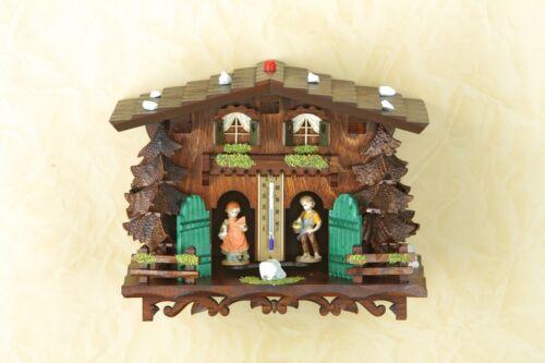 Figuren zeigen Wetter an Schwarzwald 823 Exclusives Wetterhaus mit Holzfiguren