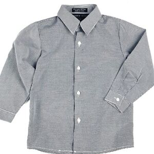 983ffc0d2 Andrew Fezza Checkered Shirt Size 4T Toddler Boys White Black Button ...