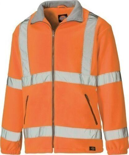 Sizes S-XXXXL Men/'s Coat Dickies Hi-Vis Fleece Work Jacket Orange