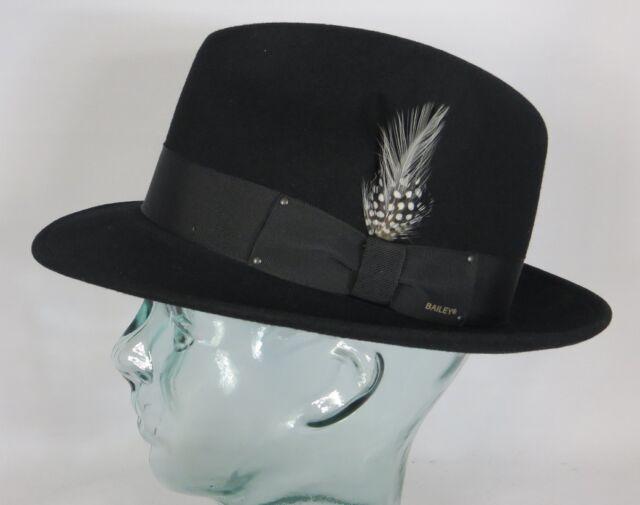 d16e01e989d65 Bailey de Hollywood Blixen Fedora Chapeau feutre laine noir en BOGART A NEUF