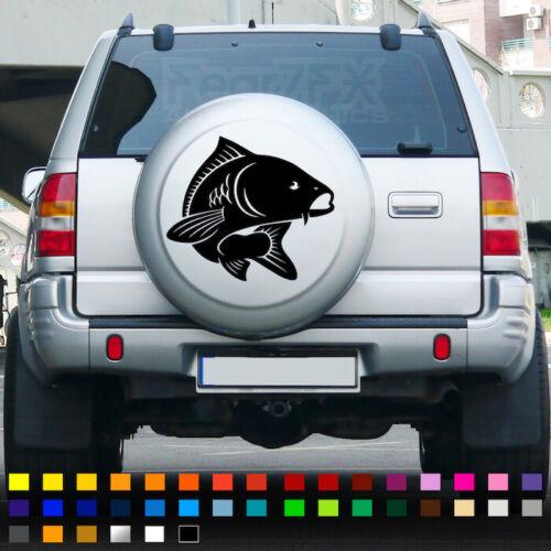 Pêche à La Carpe Autocollant Vinyle Autocollant Hunter Appât Voiture Housse Roue mur fenêtre Crochets