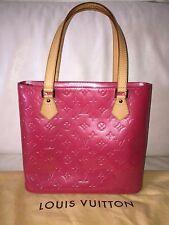 Authentique sac LOUIS VUITTON Houston Cuir Framboise Handbag
