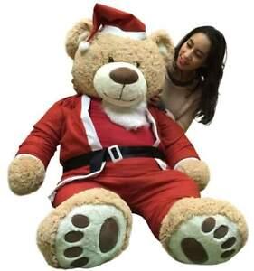 Géant Noël Ours En Peluche 152cm Doux, Porte Santa Claus Costume 1.5m Ourson