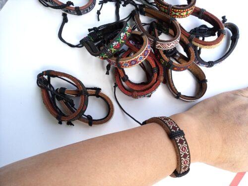 bulk lot of 50 pieces wholesale imitation Leather bracelets bangles