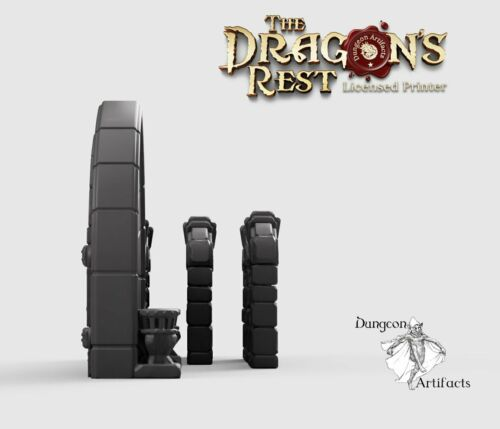 Conjunto De Porta Dungeon-Dragon /'s resto Wargaming Terreno dispersão D/&d Dnd
