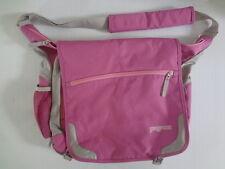 Jansport Laptop Messenger Shoulder Bag Pink Grey School Student Bag