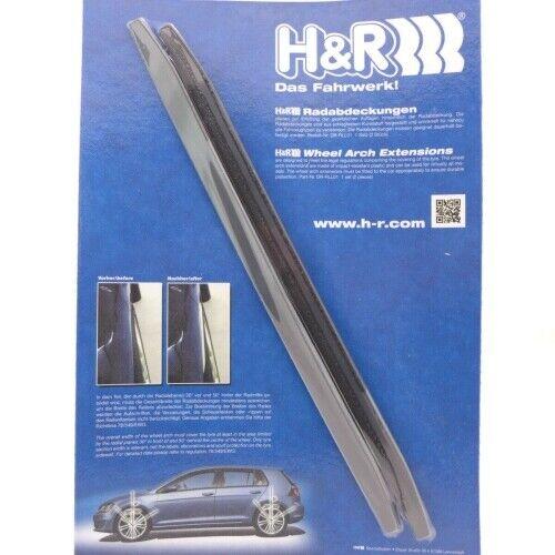 DR-RLL01 H/&R Radabdeckung 7mm schwarz 2 Stück Kotflügelverbreiterung