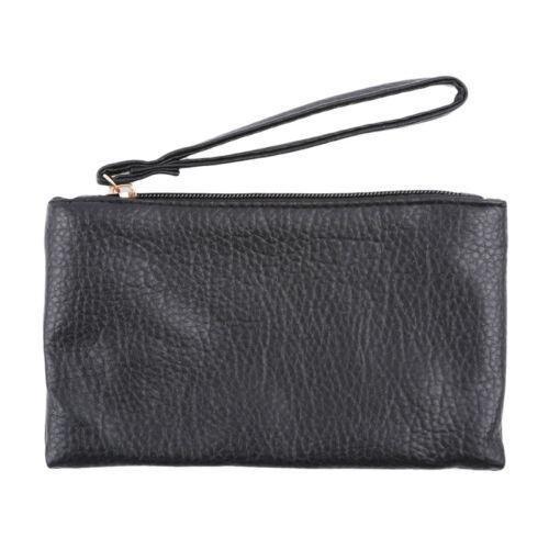 Business Men Wallets PU Leather Zipper Clutch Purse Handy Bag G