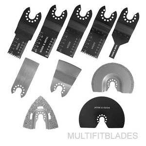 10-pc-Blade-Kit-for-Old-Style-PORTER-CABLE-FATMAX-BOLT-ON-Oscillating-Tools