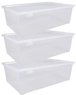 Ondis24 3x Aufbewahrungsbox Sammelbox Lagerbox Stapelbox Unterbettbox Easy XL