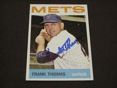 Original 1964 Topps New York Mets Frank Thomas Autographed Baseball Card W Coa Ebay