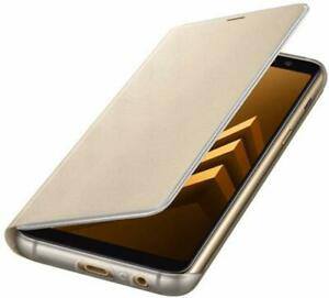 Genuine-Official-Samsung-Galaxy-A8-2018-Neon-Notification-Flip-Case-Cover-Gold