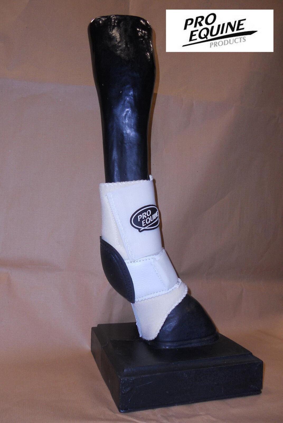 SP700 prossoezioni posteriori paranocca skid stivali neoprene Pro Equine bianco SM