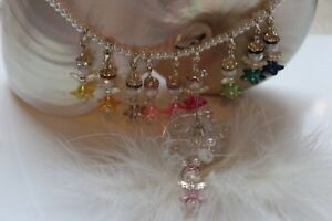 Wine-Glass-Glass-Marker-Angel-Gift-For-Guests-Jewelry-Charm-Silver