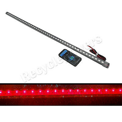 Red 56cm 48LED Car Knight Rider Strip Light 20 Modes with remote control