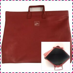 """Vintage 1970s Soft COCA COLA 17"""" x 14"""" Hinged Opening Tote Money Cooler Bag Red"""