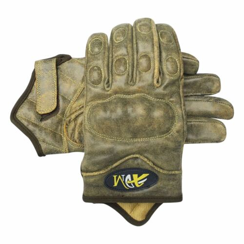 Full finger motorbike motorcycle summer//winter sports gloves crunch leather 9004