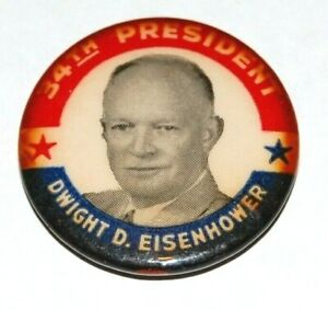 1952 DWIGHT EISENHOWER general campaign pin pinback button presidential election