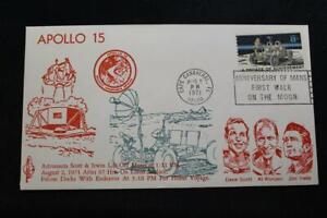 Espacio-Cubierta-1971-Eslogan-Cancelado-Apolo-15-Lunar-Clavija-Pliegue-Orbit