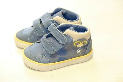 Clarks Doodles Navy//yellow canvas boys shoes//trainers infants 4//20-6.5//23