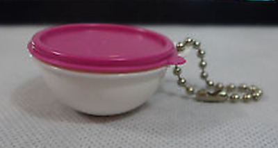 Tupperware Key Chain Pink Thatsa Bowl Keychain Store Lunch Money Rare New