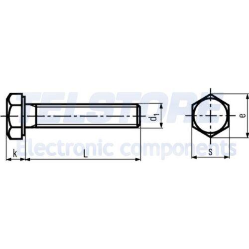 100pcs  Vite M5x10 Testa esagonale Incisione manca acciaio zinco BOSSARD