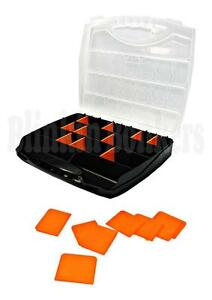 18 Compartment Professional Tool Organiser Case Box Storage Screw Nail Nut Bolt