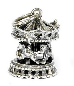 VINTAGE-SILVER-MOVING-CAROUSEL-CHARM